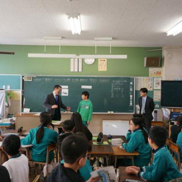 小川小学校で租税教室