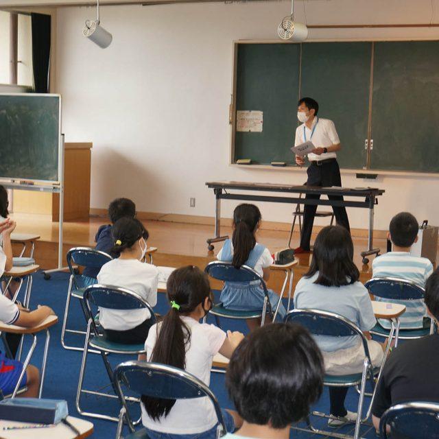 志賀小学校(嵐山町)で租税教室を開催しました